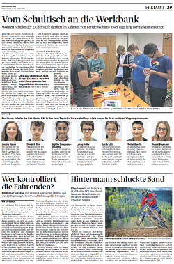 Schultisch 2017  Aargauer Zeitung vom Donnerstag, 28. September 2017